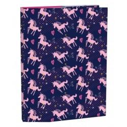 Dosky A4 školské + BOX STIL s klopou Pink Unicorn