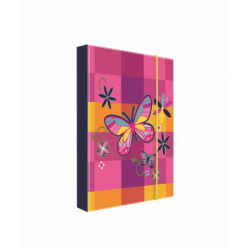 Dosky A5 školské + BOX KARTON Motýľ