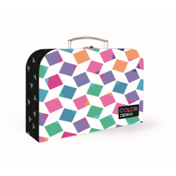 Kufrík KARTON lamino 34cm Cubes