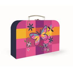 Kufrík KARTON lamino 34cm Romantic Motýl