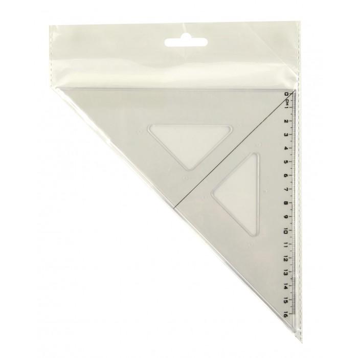 Pravítko trojuholník s čiernou ryskou transparent CENTROPEN9501