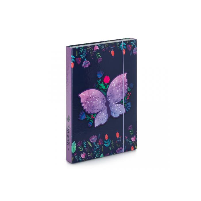 Dosky A4 školské + BOX KARTON Motýľ