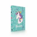 Dosky A4 školské + BOX KARTON Unicorn iconic