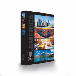 Dosky A4 školské + BOX KARTON Jumbo Amerika