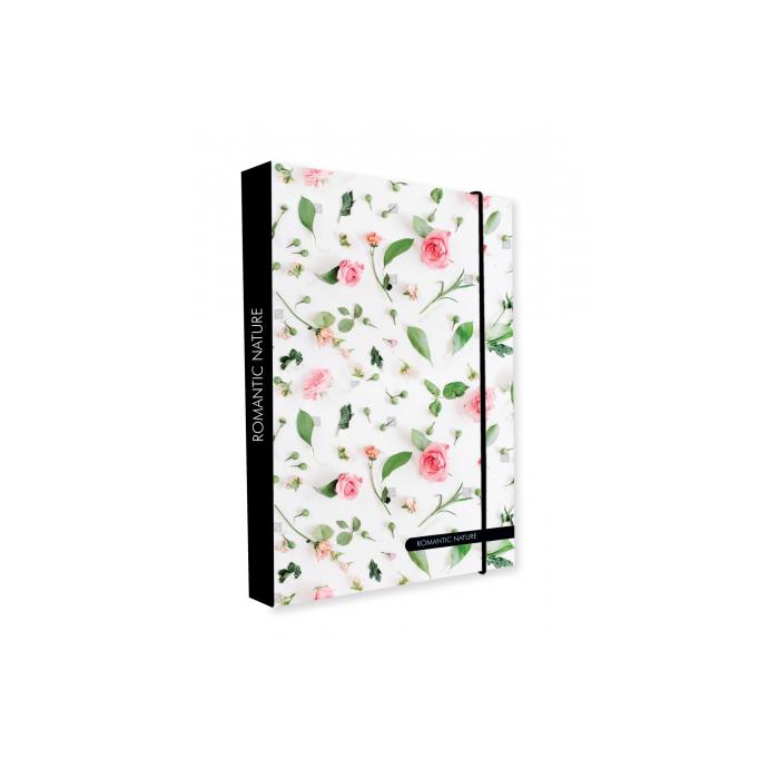 Dosky A5 školské + BOX KARTON Jumbo Romantic Nature Rose