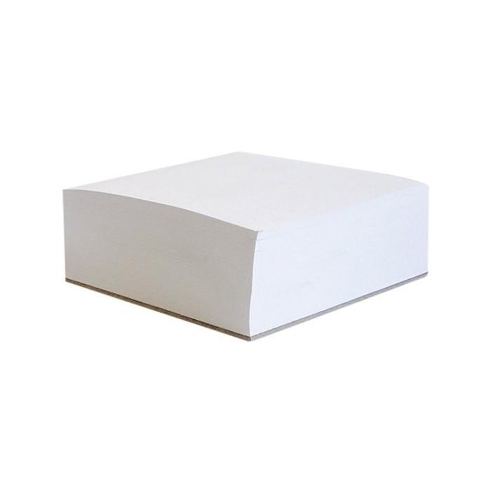 Blok poznámkový špalík nelepený 9x9x5 cm biely