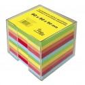 Blok poznámkový špalík nelepený 9x9x9 cm 5 farebný v plaste