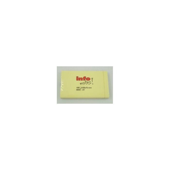Blok samolepiaci 125x75/100ls. žltý
