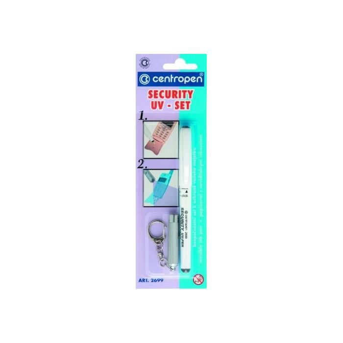 Centropen 2699/2, 0,6-1,0 popisovač UV set pero+lampa