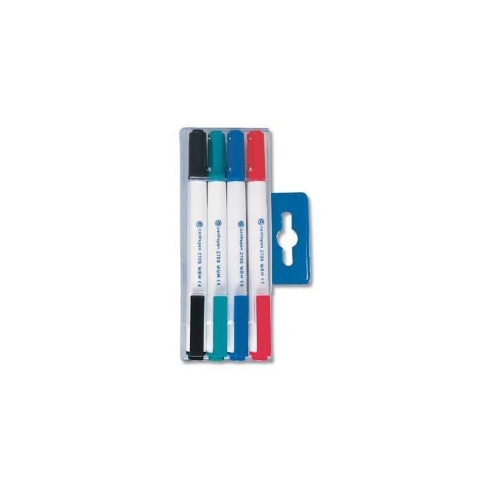 Centropen 2709/4 súprava značkovačov na stierateľné biele tabule