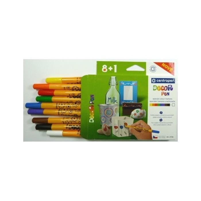 Centropen 2738/8+1, 1,5 súprava značkovač Decor pen