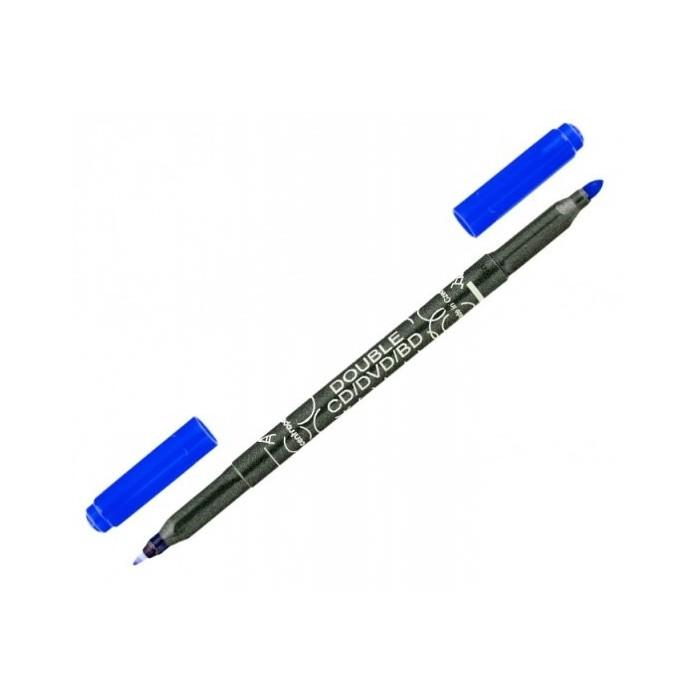 Centropen 3616 0,6/2,5 popisovač modrý DOUBLE na CD/DVD/BD