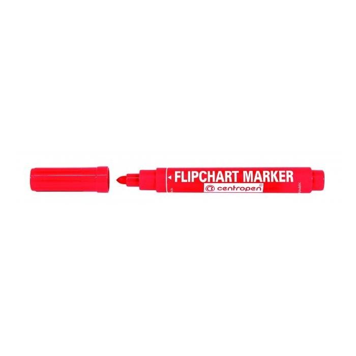 Centropen 8550 značkovač červený na flipchartové bloky