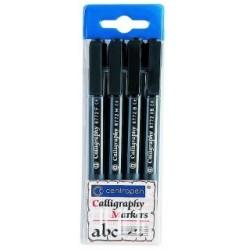 Centropen 8772/4 súprava popisovačov Calligraphy