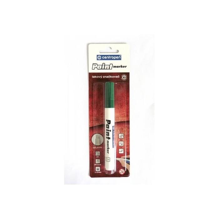 Centropen 9100 značkovač lakový zelená