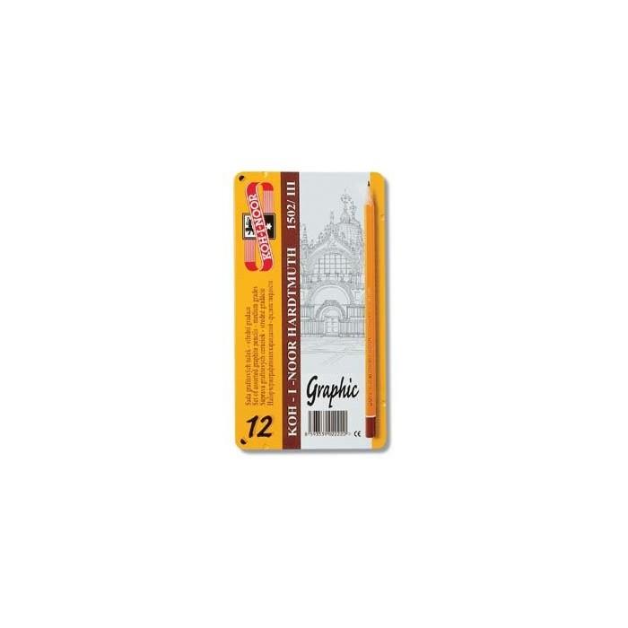 Ceruzka KOH-I-NOOR 1502/III GRAPHIC 5B-5H súprava