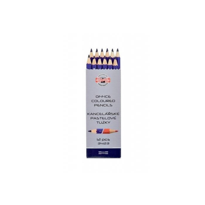 Ceruzka KOH-I-NOOR 3423 EG červeno-modrá priemer tuhy 9mm