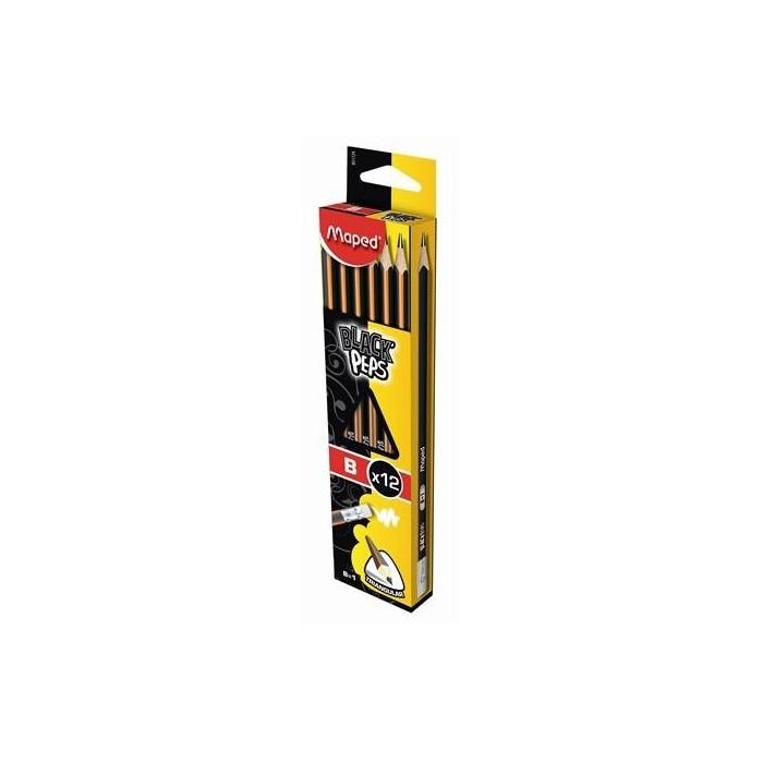 Ceruzka MAPED Black Peps B s gumou