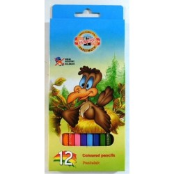 Ceruzky KOH-I-NOOR 3552/12 farebná súprava v kartóne VTÁCI