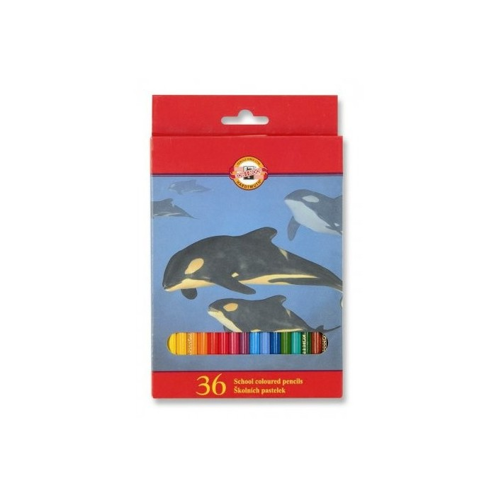 Ceruzky KOH-I-NOOR 3555/36 farebná súprava v kartóne