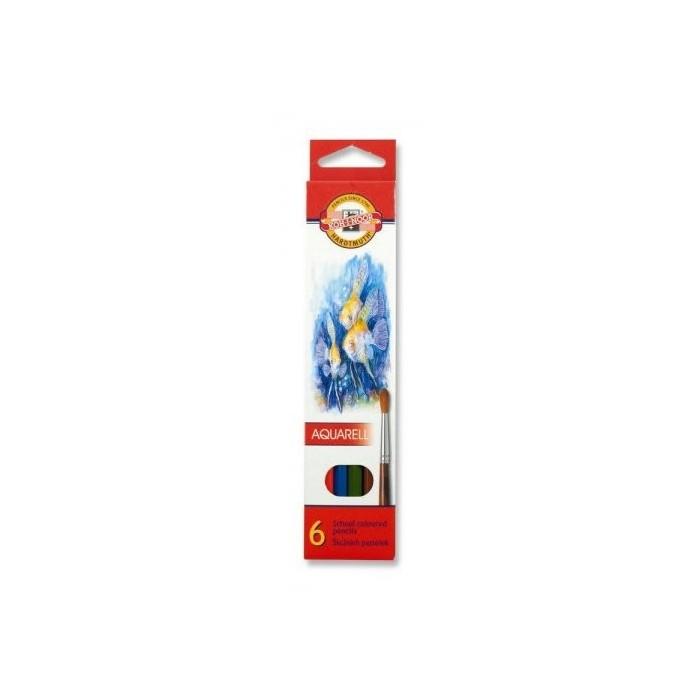 Ceruzky KOH-I-NOOR 3715/ 6 farebná súprava akvarel