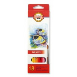 Ceruzky KOH-I-NOOR 3717/18 farebná súprava akvarel