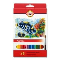 Ceruzky KOH-I-NOOR 3719/36 farebná súprava akvarel