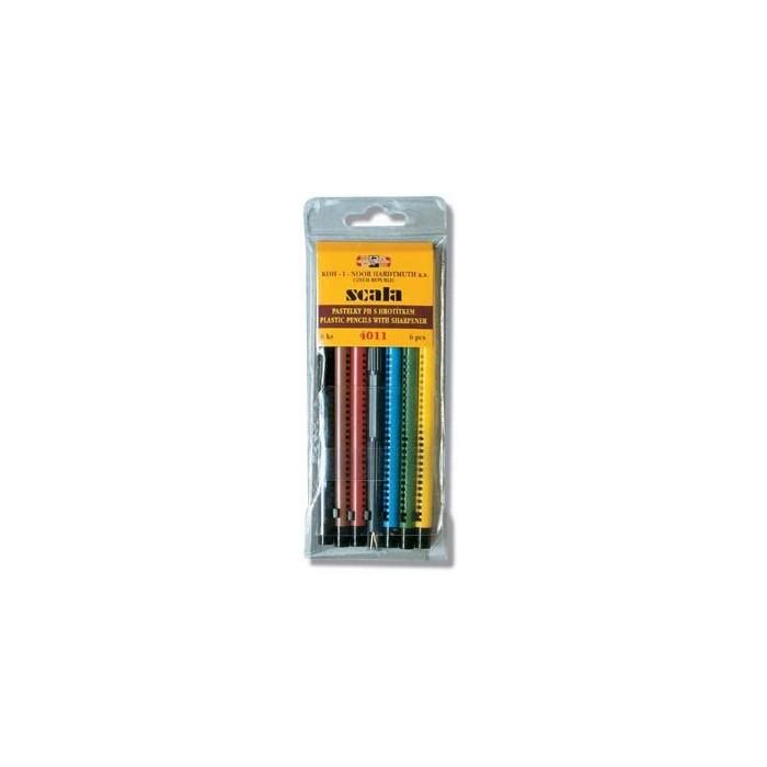 Ceruzky KOH-I-NOOR 4011/ 6 farebné SCALA v plaste
