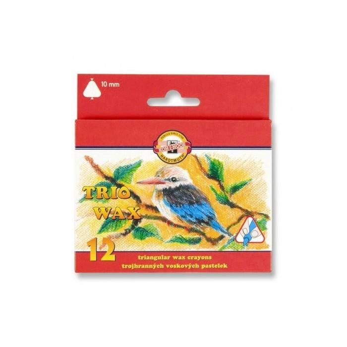 Ceruzky KOH-I-NOOR 8272/12 3HR farebné voskové 10mm