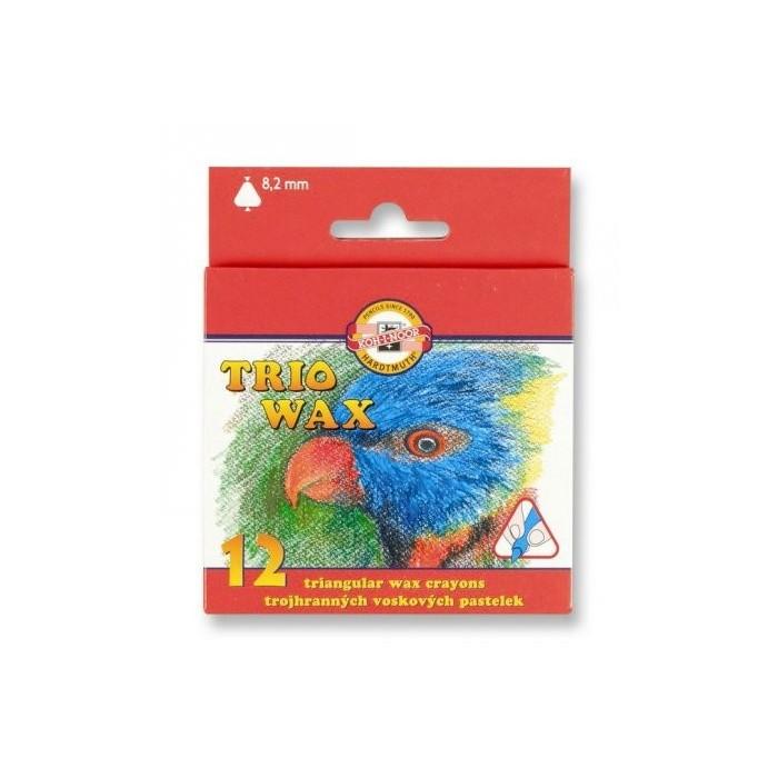 Ceruzky KOH-I-NOOR 8272/12 farebné voskové, 3HR, 8,2mm