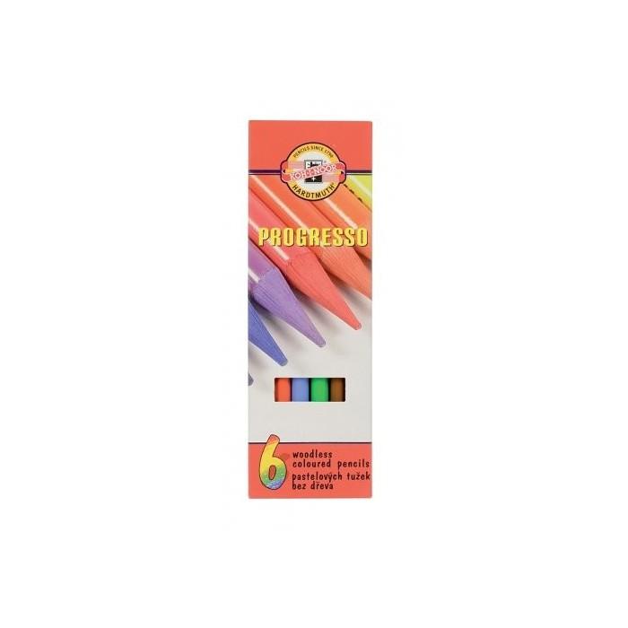 Ceruzky KOH-I-NOOR 8755/ 6 pastelová farebná súprava PROGRESSO
