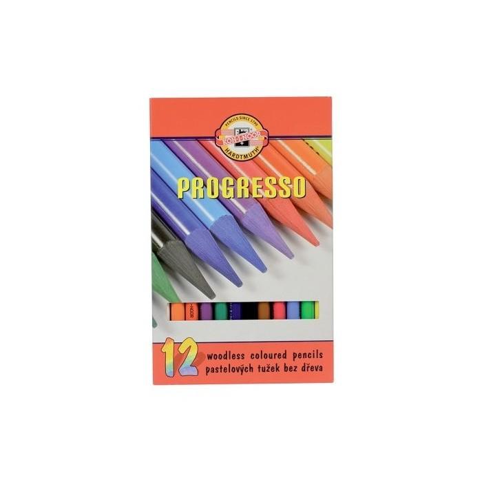 Ceruzky KOH-I-NOOR 8756/12 pastelová farebná súprava PROGRESSO
