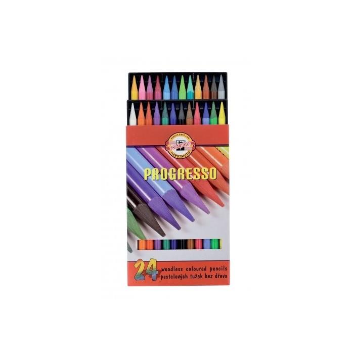 Ceruzky KOH-I-NOOR 8758/24 pastelová farebná súprava PROGRESSO