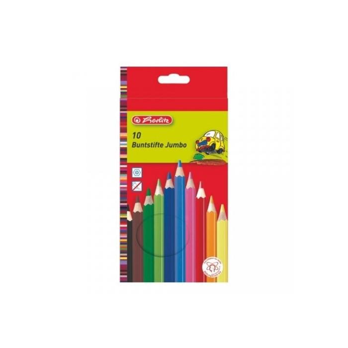 Ceruzky HERLITZ/10 farebná súprava JUMBO