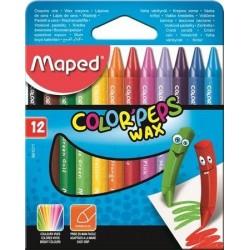 Ceruzky MAPED/ 12 Color Peps Wax,voskovky