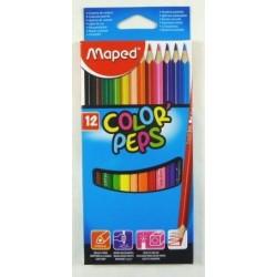 Ceruzky MAPED/12 3HR farebná súprava