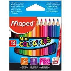 Ceruzky MAPED/12 3HR MINI farebná súprava