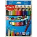 Ceruzky MAPED/36 3HR farebná súprava