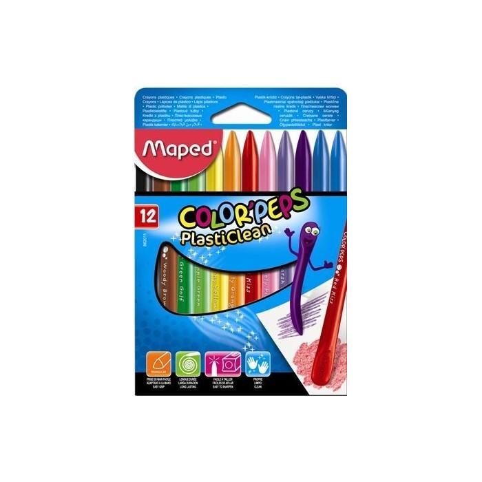 Ceruzky voskové MAPED Color Peps 1/12 farebná súprava