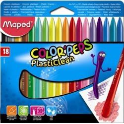 Ceruzky voskové MAPED Color Peps 1/18 farebná súprava