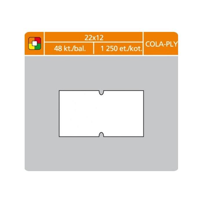 Etikety cenové 22x12 COLA-PLY biele