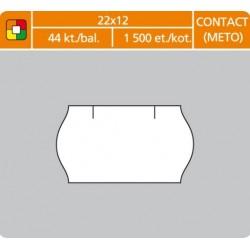 Etikety cenové 22x12 CONTACT biele