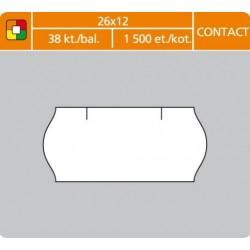 Etikety cenové 26x12 CONTACT biele