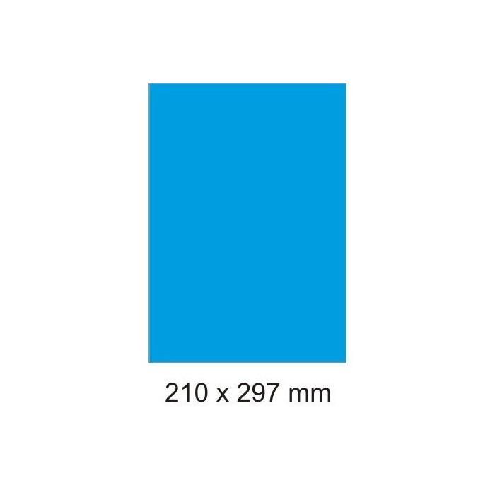 Etikety farebné 210x297/100 hárkov modré