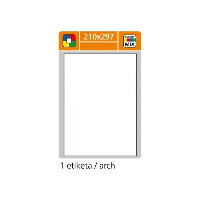 Etikety farebné 210x297/100 hárkov žlté