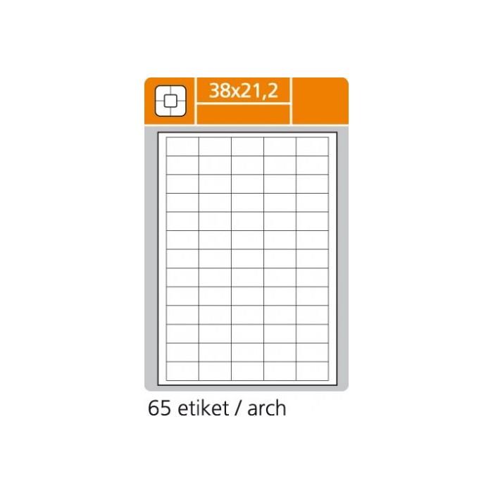Etikety PLUS 38x21,2/100 hárkov