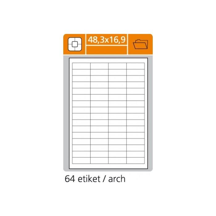 Etikety PLUS 48,3x16,9/100 hárkov