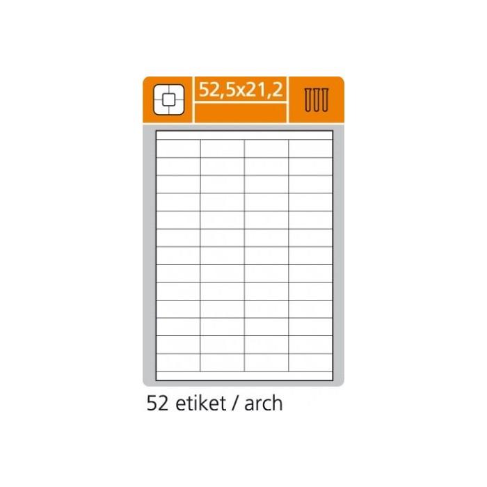 Etikety PLUS 52,5x21,2/100 hárkov
