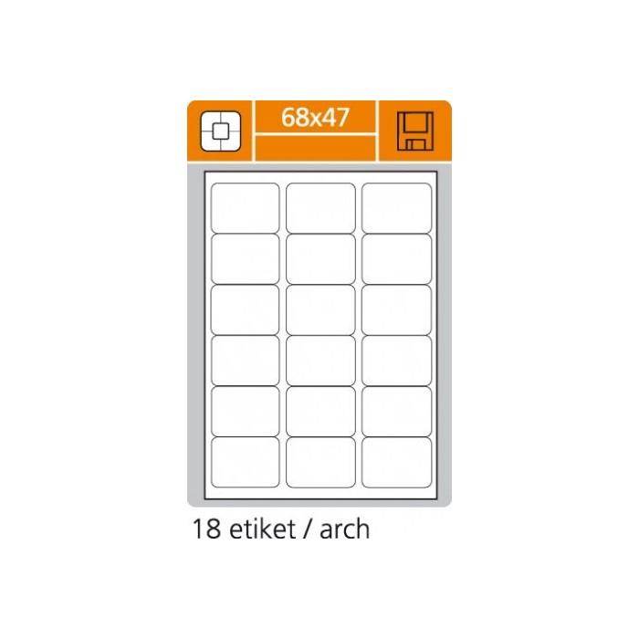 Etikety PLUS 68x47/100 hárkov