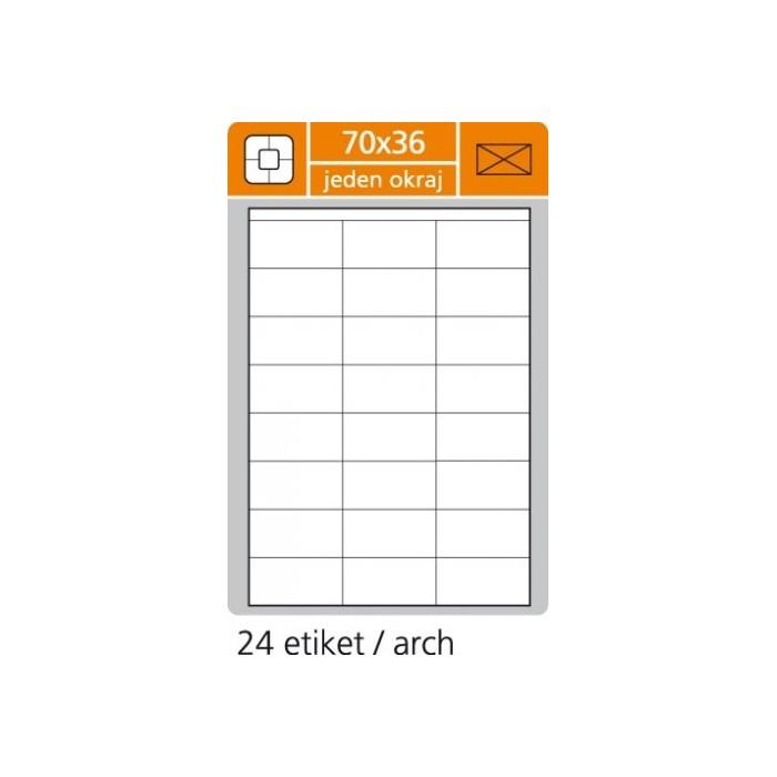 Etikety PLUS 70x36/100 hárkov